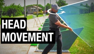 golf swing head movement