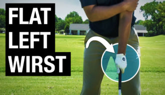 how to get a flat left wrist at impact